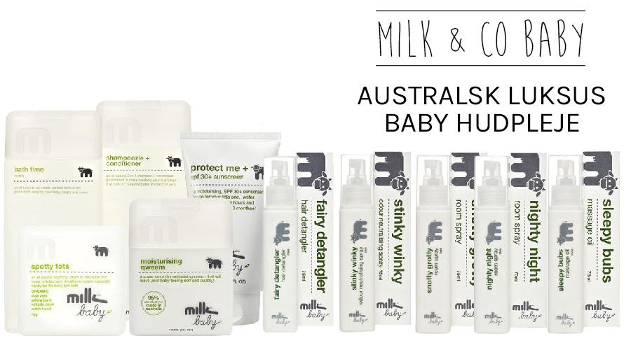 LUKSUS BABYHUDPLEJE FRA AUSTRALSKE MILK AND CO BABY