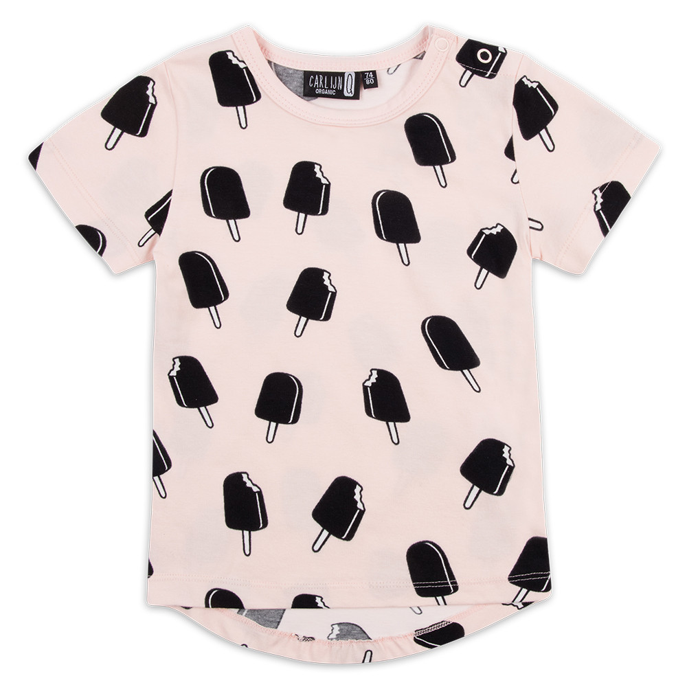 CARLIJNQ | T-SHIRT ICE CREAM PINK