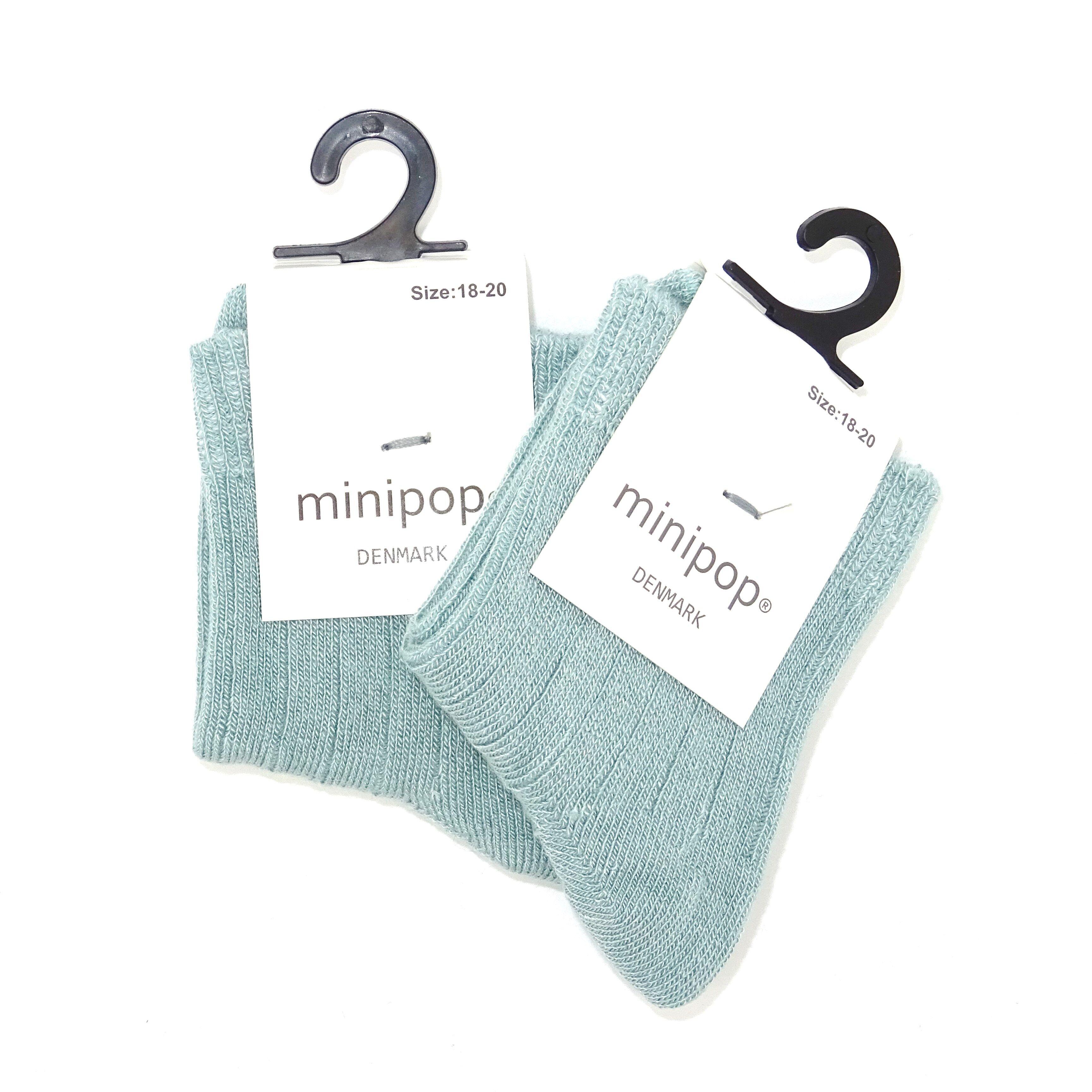 MINIPOP SOCKS DUSTY GREEN | ANKEL STRØMPER