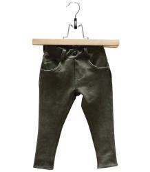 LUCKY NO. 7 | GREEN DENIM JOG PANTS
