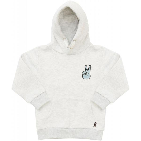 MINI LES DEUX | PEACE HOODIE - LIGHT GREY MELANGE
