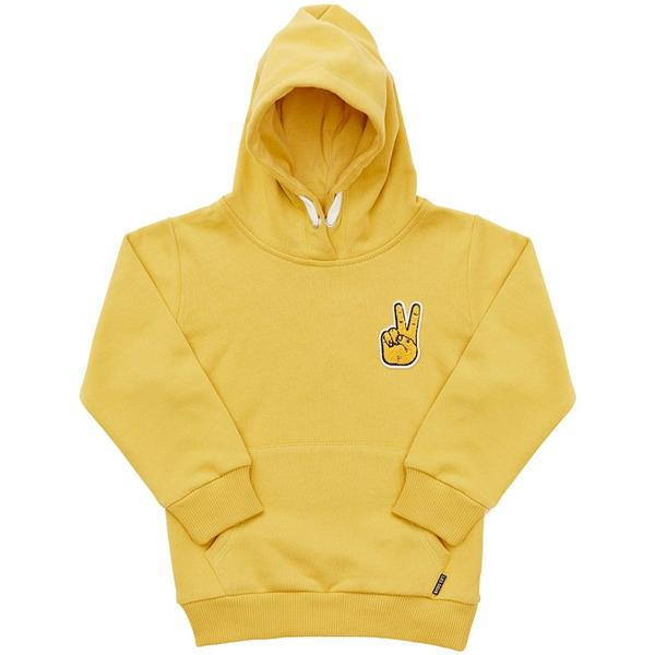 MINI LES DEUX | PEACE HOODIE - HONEY MUSTARD