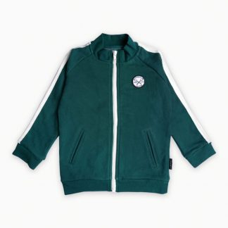 SPROET & SPROUT | SWEAT CARDIGAN - DARK FORREST GREEN
