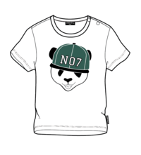LUCKY NO. 7 | PANDA T-SHIRT GREEN