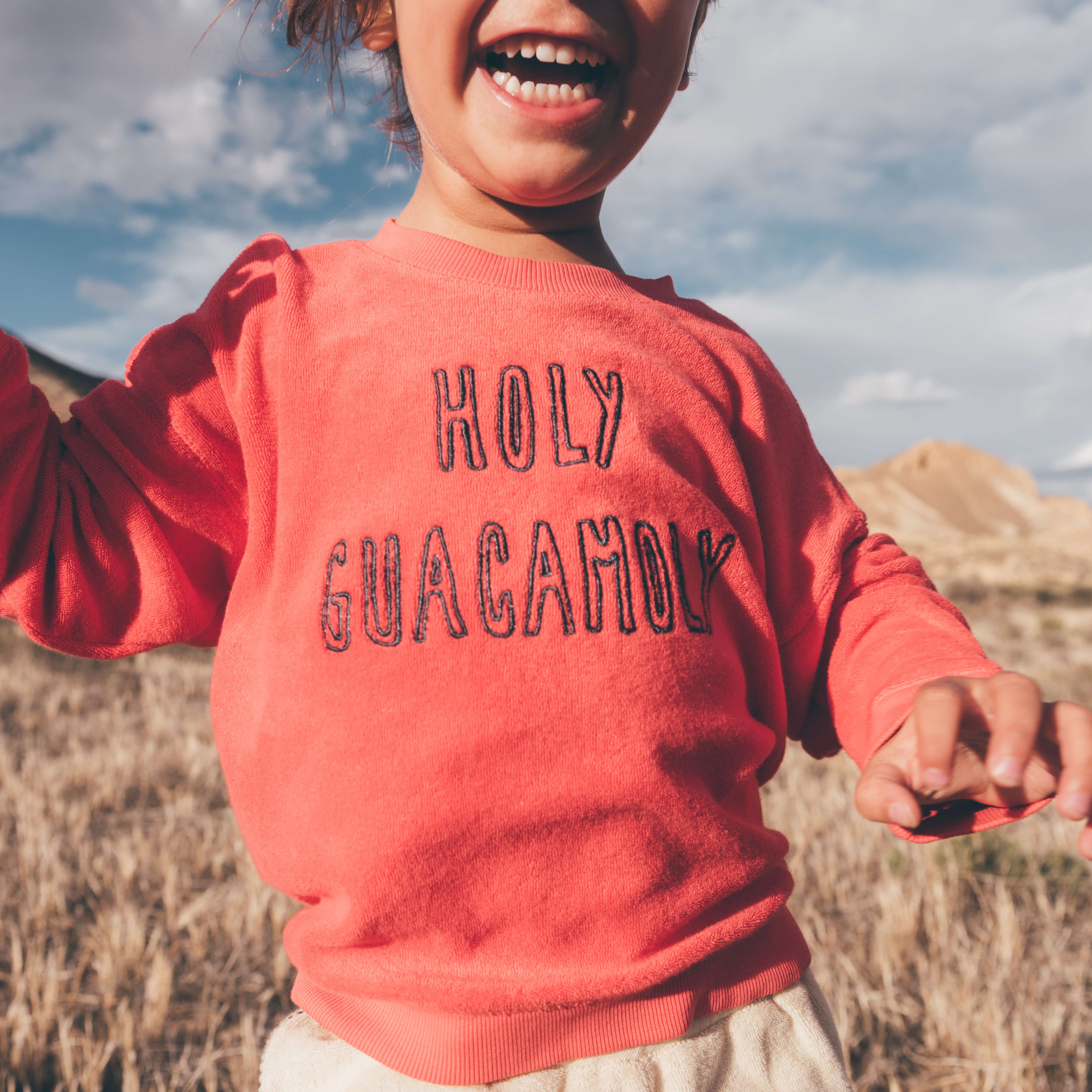SPROET & SPROUT   SWEATSHIRT, HOLY GUACAMOLY