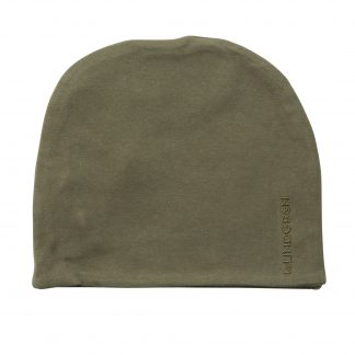 BY LINDGREN | BEANIE HUE LOGO, DUSTY OLIVE