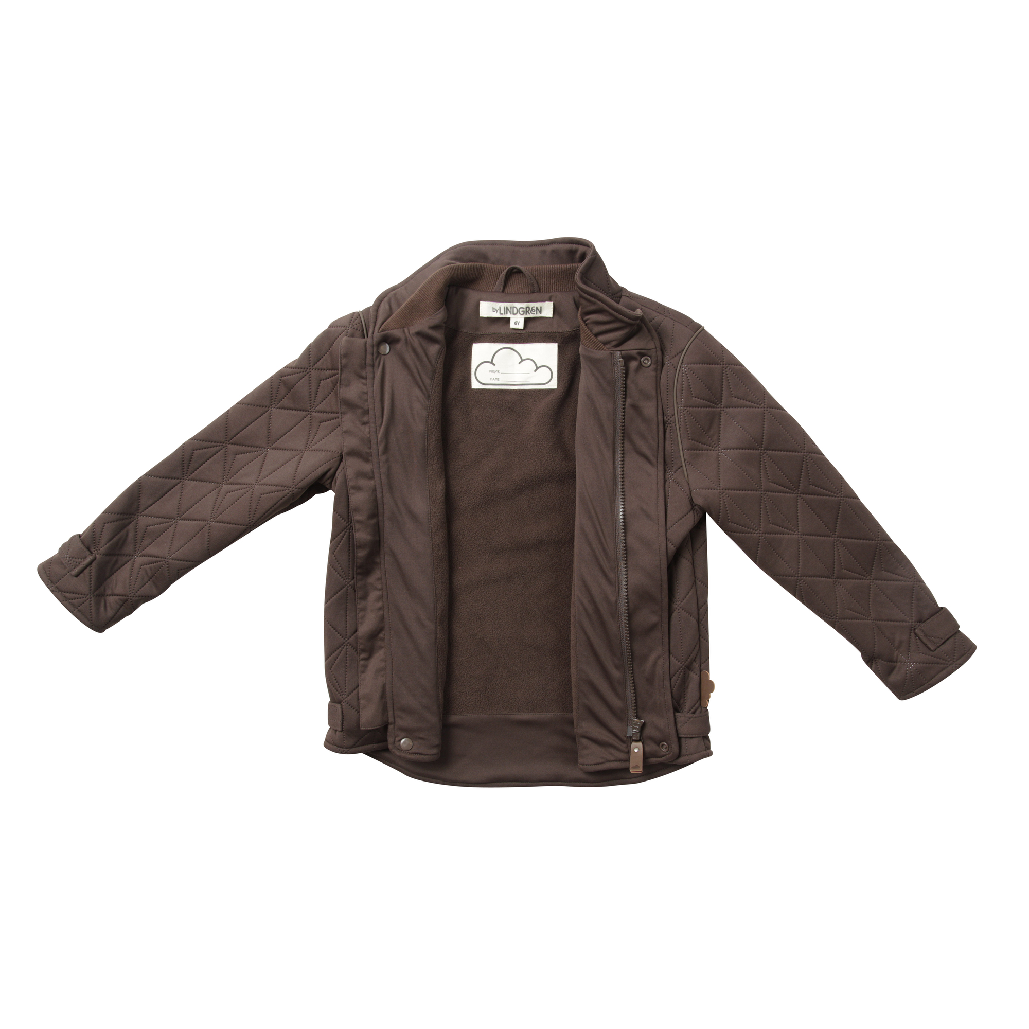 BY LINDGREN | LILLE LEIF THERMO JAKKE FLEECE, MOCCA