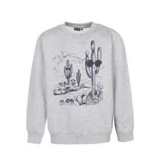 KIDS UP | KAKTUS SWEATSHIRT - GRÅ
