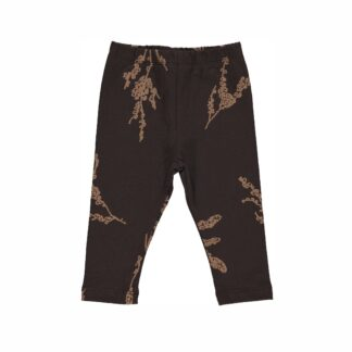 GRO | LEGGINGS, BLACK BROWN MØNSTER